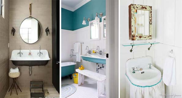 bathroom with vintage style