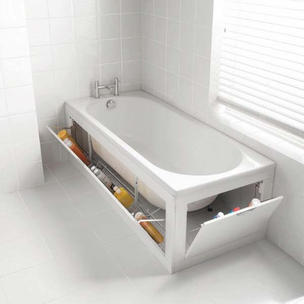 bathtub with hidden storage