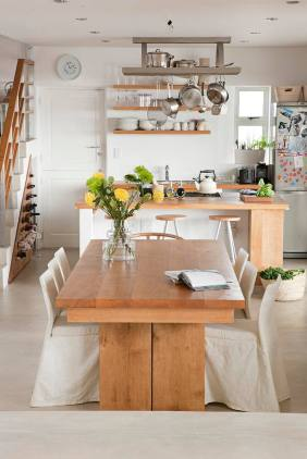 integration between kitchen and dining room
