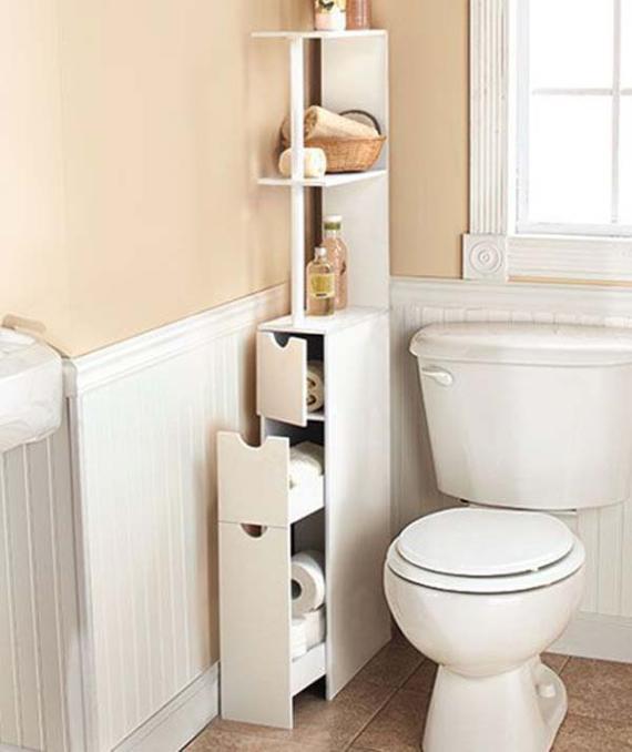 shelves to the bathroom