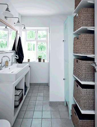 storage space in the bathroom