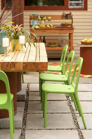 furniture on patios