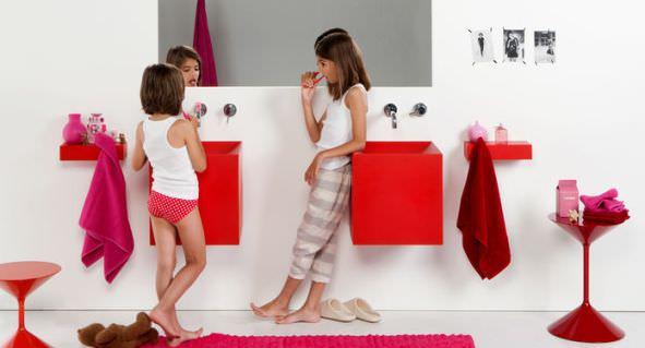 arrange bathroom