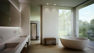white bathroom style