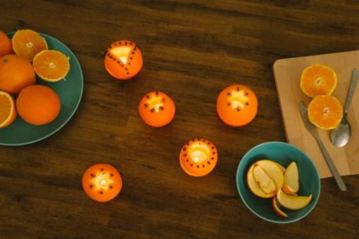 orange peel decoration