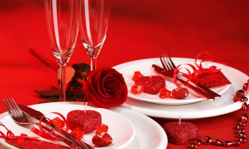 valentine day decorating