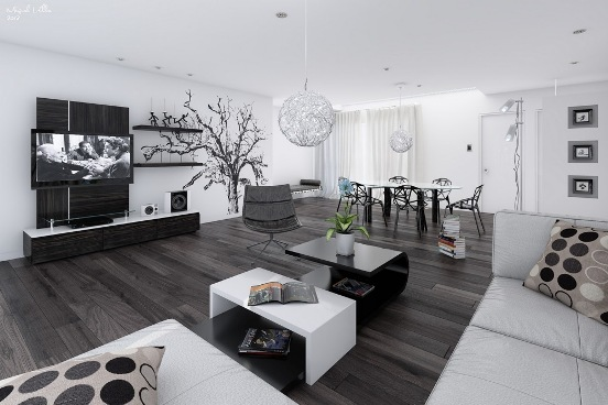 monochrome decoration