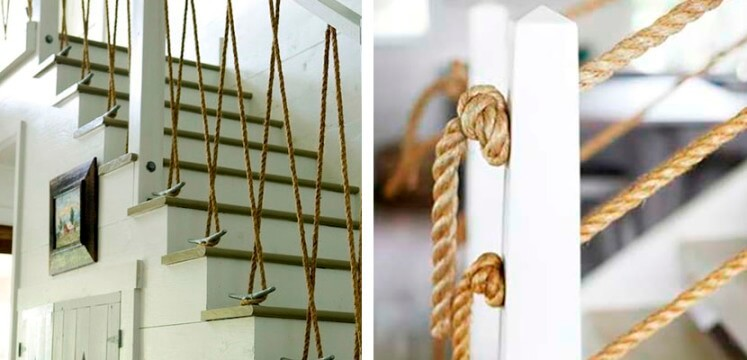 ropes on stairs