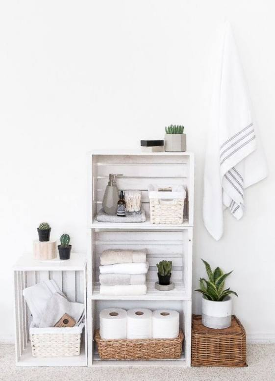 bathroom wooden box