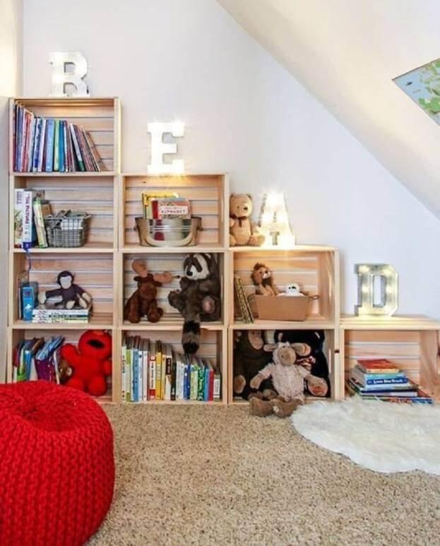 child room wood box