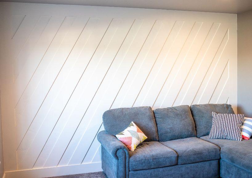coastal lean accent wall